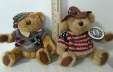 Lot of 2 Brass button Fully Jointed Bear Collectibles 1996 Cody & Sherwood
