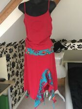Coline Summer Beach Suit, Size M Skirt, L Top. NEW, Red
