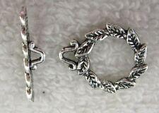 50 sets Tibetan Silver leaf toggle clasps FC8807