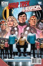 STAR TREK / LEGION OF SUPERHEROES - COMPLETE SET ISSUES 1 2 3 4 5 6 - IDW COMICS
