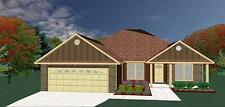 House Plans for 1940 Sq. Ft. 4 Bedroom Garden Style