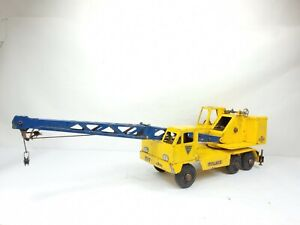 "Vintage NYLINT Toys Michigan Clark Equipment  Crane Pressed Steel Metal T-24 18"""