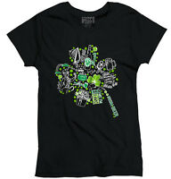 St Patrick Day Funny Shirt Shamrock Cool Gift Patty Beer Edgy Womens T Shirt