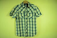 G-STAR RAW _ MEN'S SUMMER HOLIDAY CHECKED SHIRT SHORT SLEEVE ARC 3D _ M