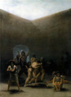Oil painting The Yard of a Madhouse by francisco de goya free shipping on canvas