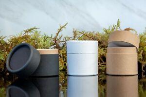 20 - Eco Jars 2oz / 60g Kraft Paper Cosmetics Containers Black White