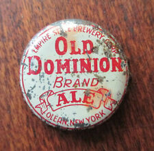 OLD DOMINION ALE Beer Cork Bottle Cap Crown, Empire State Brewing, Olean NY