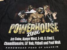 Powerhouse 2006 Tour Tee Hip Hop Rap Kanye West Ice Cube Graphic Shirt
