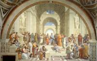 """RAPHAEL THE SCHOOL OF ATHENS PICTURE CANVAS WALL ART """"20X30"""" INCHES"""
