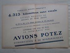 7/1926 PUB AVIONS HENRY POTEZ RENAULT PARIS GOLFE PERSIQUE ARRACHART ORIGINAL AD