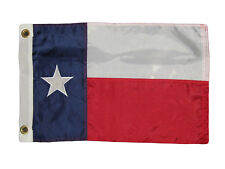 """12x18 Embroidered Texas 210D Nylon Flag 12""""x18"""" banner Grommets Made in USA"""