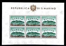 SAN MARINO 1961 - FOGLIETTO EUROPA NUOVO **