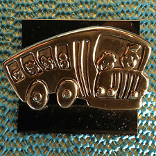 or Pendant Combination School Bus Pin, Brooch