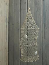 Deko Fischreuse Reuse 50x15cm mit Muscheln für die maritime Dekoration