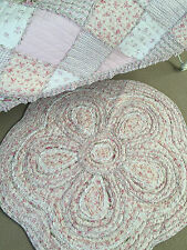 New Tara Flower Shabby Chic Floor Rug Girls Bedroom Nursery Vintage Floral