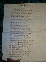 LETTRE MANUSCRITE PAMPHLET CHARTE LOUIS XVIII ROI RESTAURATION BOURBONS 1818