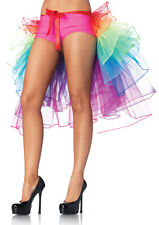Women's TuTu Neon Rainbow Skirt Tail Gown Dress Tuxedo Ballet Dance Club