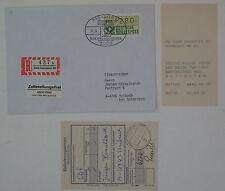 (g527) Bund, BRD ATM 1 R-Brief Hannover 17.4.1985 nach Österreich Quittung