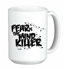 11oz mug - Fear is the mind killer  - Printed Ceramic Coffee Tea Cup Gift