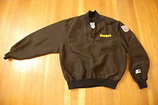 Vintage NFL Pittsburgh Steelers STARTER black jacket pullover Mens sweatshirt L