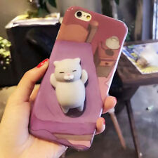 Lovely 3D Cartoon Cat Soft Doll Toy Silicone Phone Case Cover For iPhone 7 plus