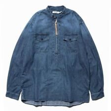 Nonnative Worker Pullover Shirt Relaxed Fit Denim Size 4 XL 100% Authentic New