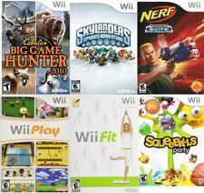 6 Wii Game LOT Nerf Fit Play Skylanders Spyros Squeeballs Party Big Game Hunter