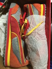 Men's 13 Puma Tedo MS - Grey, Orange, Scarlet 345806 01 GOR