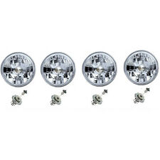 "5-3/4"" Halogen Headlight Diamond Crystal Headlamp Clear 60/55W H4 Light Bulb Set"