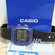 Authentic Casio W800H-2AV Man's Kids Black Resin 100M Snooze Alarm Digital Watch