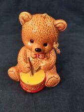 Vintage Irice Import Musician Bear Pomander Potpourri playing drum ornament