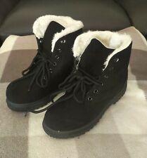 SQL Ladies/Girls Black Faux Suede Winter Boots Size 3