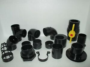 2.0 INCH (56MM) SOLVENT WELD AQUATIC PIPE / FITTINGS KOI POND