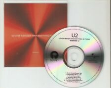 U2 'LOVE IS BIGGER THAN ANYTHING IN ITS WAY' REMIXES PART 2 BRAZILIAN CD PROMO