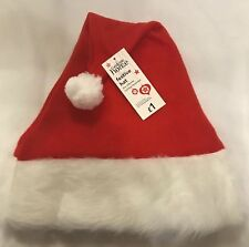Adult s - Christmas Santa Hat - Red With White Trim - Gift - Brand New c1d64fdb3b42