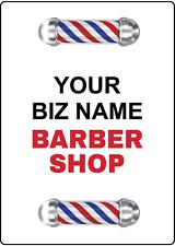 Your Biz Name Barber Shop Storefront Advertising Adhesive Vinyl Sign Decal