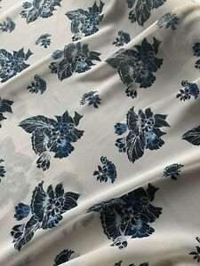 METRE- Floral CHIFFON fabric-,flowing lightweight dress Fabric