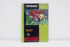Super Nes Nintendo Snes - Zombies (FAH - Edition française) NOTICE SEULE