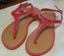Anna Girls Sandals 12 Shoes Pink Rhinestone Sparkle Back Buckle Bling NWT
