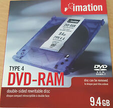 Imation 9.4 GB RAM REwritable Double Sided Type 4 Disc can be removed