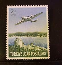 Turkey Stamp - #C18 - Plane over Rumeli Hisari Fortress - MNH XF - 1950