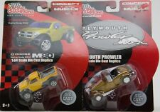 Racing Champions Plymouth Prowler & Dodge M80 Die Cast Cars 1:64 Scale Nip