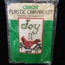Caron Cardinal Joy Plastic Canvas Kit Switch Plate Cover 4141 Christmas 1982