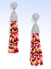 BAUBLEBAR Gold-tone Multi-Color Beaded Pinata TASSEL Drop EARRINGS