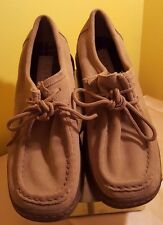 Excellent Wallabee-like MELROSE Tan Suede Leather Upper Crepe Soul Tie Shoes 7M