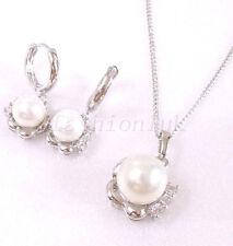 placcato oro bianco perla Conchiglia Matrimonio DAMIGELLA
