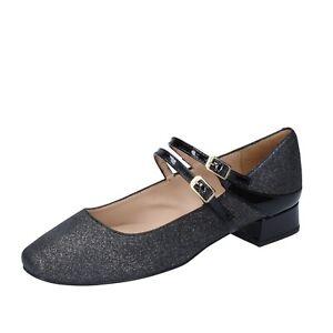 Women's Shoes UNISA 37 Eu Ballet Flats Black Leather Synthetic BM37-37