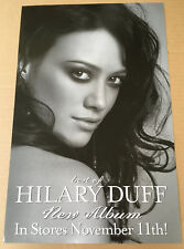 HILARY DUFF Rare 2008 PROMO POSTER for Best of CD USA seller MINT 11 x 17