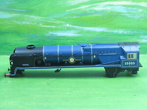 Hornby Merchant Navy class loco Canadian Pacific body 35005 BR Blue early -