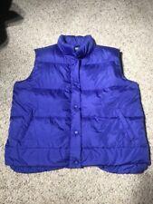 Cabela's Mens Goose Down Blue Puffer Vest Size Large